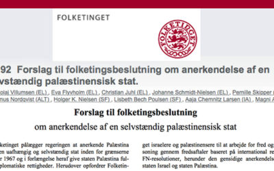 27.04.2016 – Vil Folketinget anerkende en palæstinensiske stat? Svaret er nej!