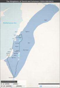 Kort over Davids og Solomons kongedømmer.