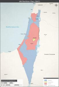 FN's delingsplan for Israel og Palæstina 1947.