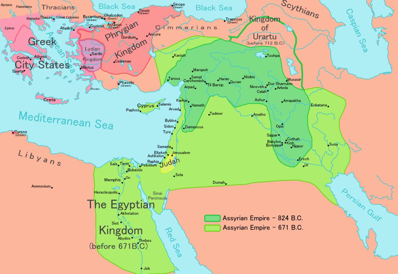 Judæa i det Assuriske rige. Historie Israel - ung og ældgammel.