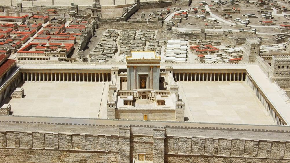 Model af Det 2. Tempel. Israel - ung og ældgammel. Israel-Info