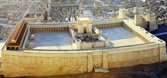 Model af Salomons Tempel i Jerusalem. Kilderne til Kongetiden. Israel-Info