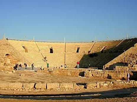 Det antikke teater i Cæsaria. Israel - ung og ældgammel. Israel-Info