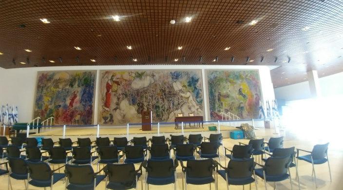 Israels 35. regering hold sit første regeringsmøde søndag den 17. maj 2020 i Chagall Hallen i Knesset. Israel-Info
