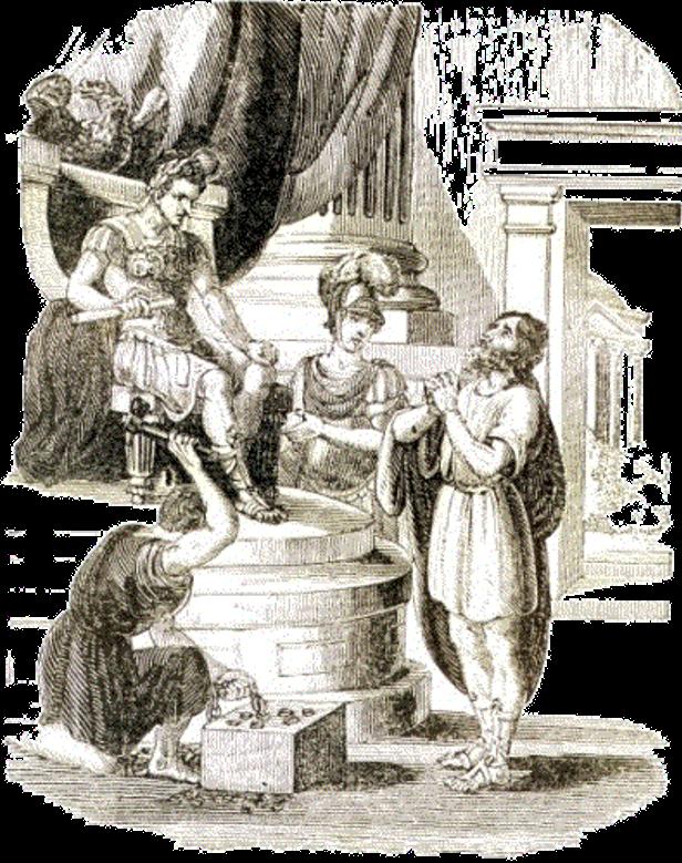 Jesefus foran Vespasian. Israel - ung og ældgammel. Israel-Info.