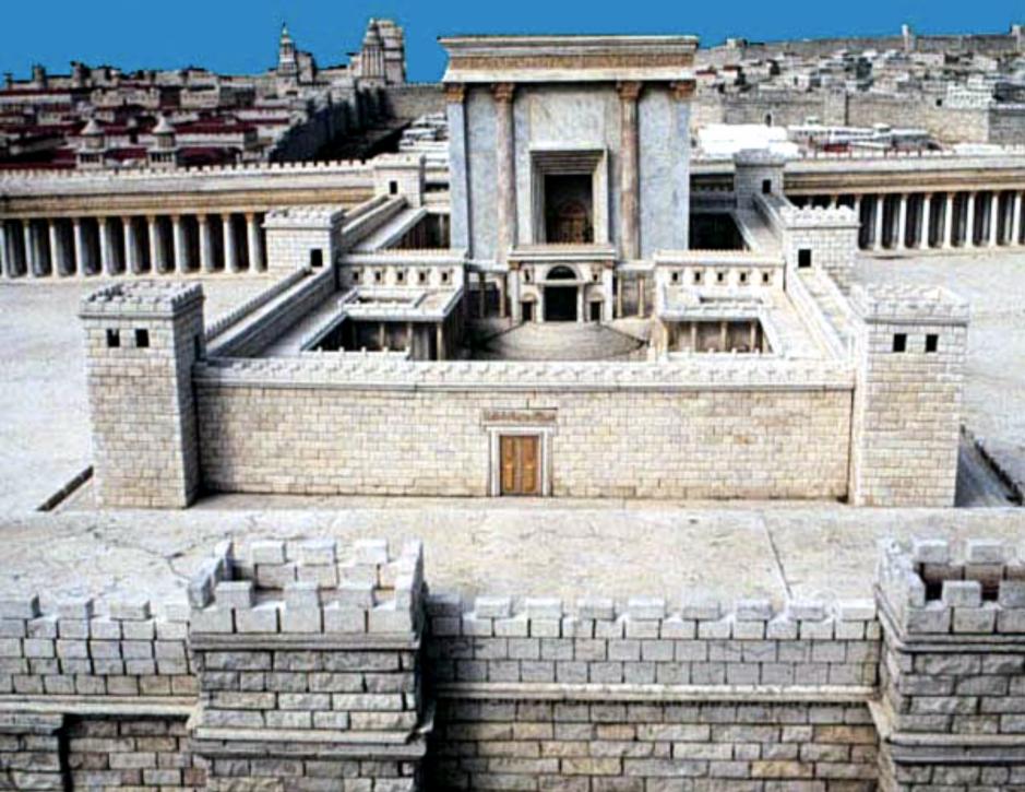 Model af Templet i Jerusalem efter Herodes ombygning. Israel - ung og ældgammel. Israel-Info