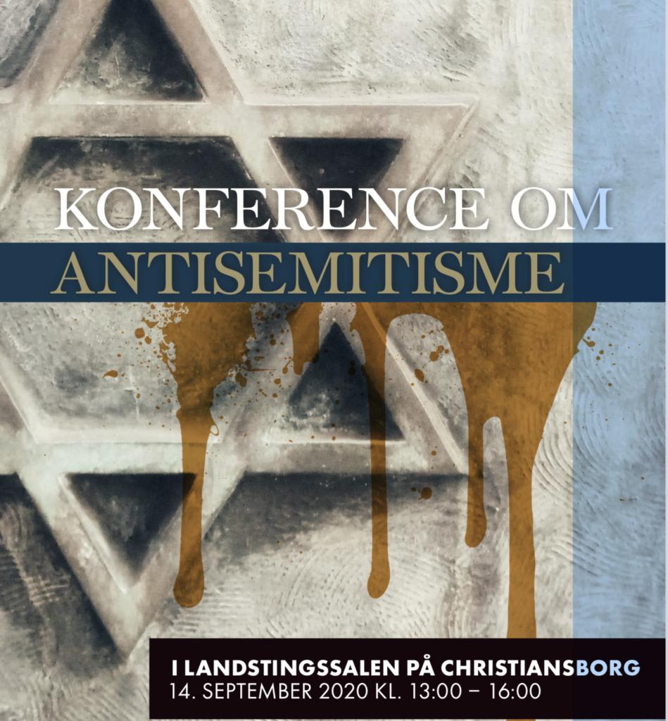 Davidstjerne med blod. Illustration til konference om jødehad.