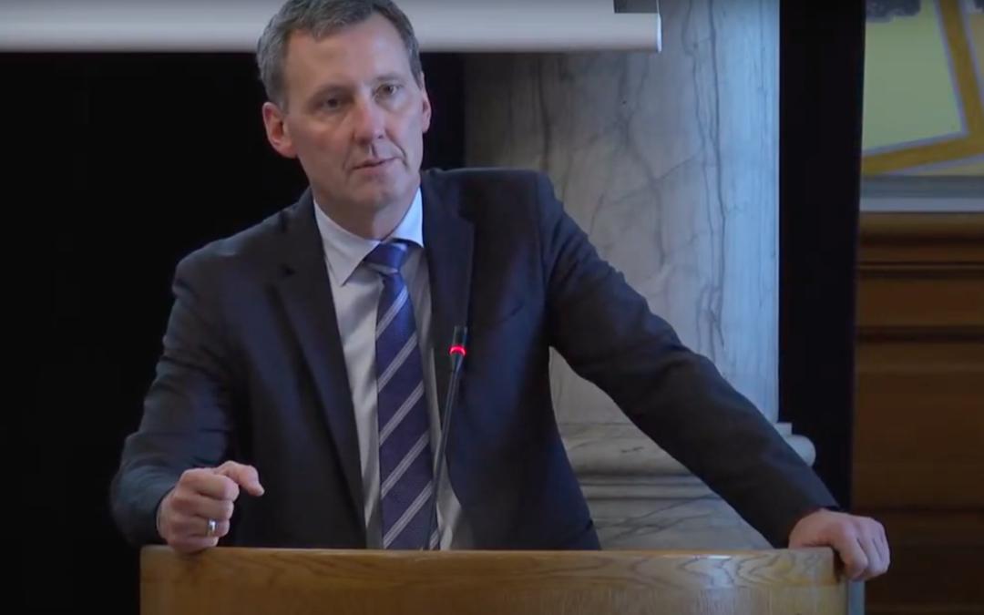 Justitsminister Nick Hækkerup giver en status over den nationale handlingsplan mod antisemitisme. Konference om antisemitisme 14.9.2020. Israel-Info