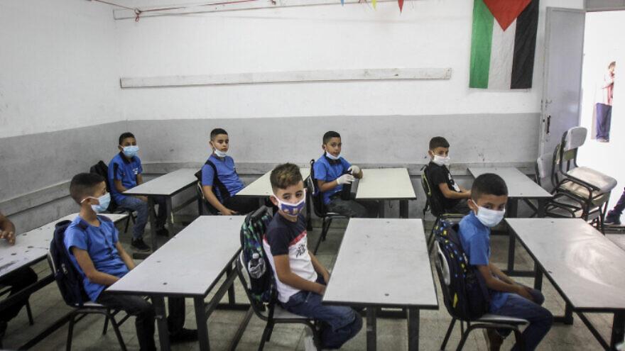 Palæstinensiske skolerelever i Nablus på Vestbredden.