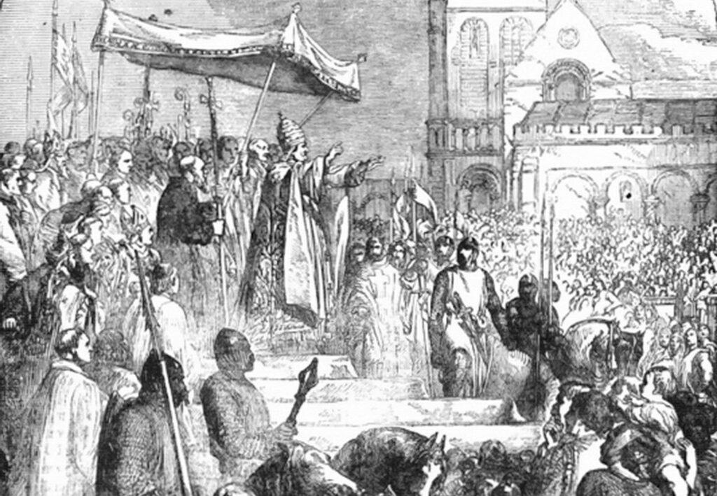 Pave Urban tale som blev starten på korstogene til Det hellige Land. Israel-Info
