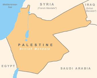 Det britiske mandat i Palæstina 1917-1920. Israel ung og ældgammel. Israel-Info.
