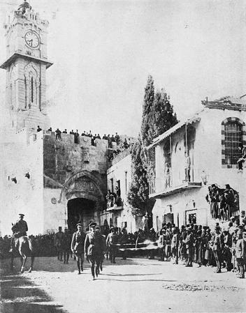 General Allenby rykker ind i Jerusalem 9. december 1917. Israel - ung og ældgammel. Israel Info