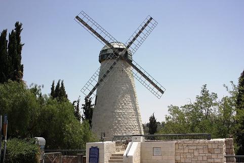 Montefioris vindmølle lige udenfor Den gamle By i Jerusalem. Israel - ung og ældgammel. Israel Info