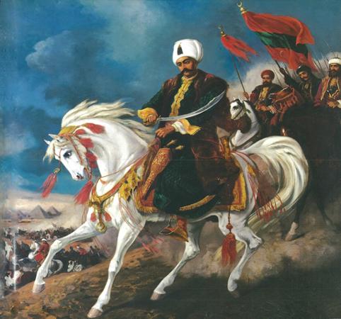 Selim 1. – sultan 1512-1520 – billede på militærmuseet i Istanbul, Israel - ung og ældgammel. Israel Info