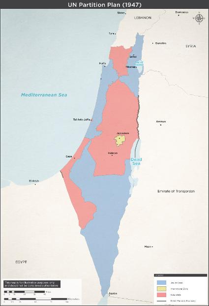 FNs delingsplan 29. november 1947. Israel ung og ældgammel. Israel-Info