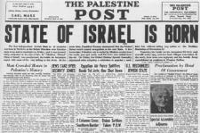 The Palestine Post fra søndag den 16. maj 1948. Israel ung og ældgammel. Israel-Info