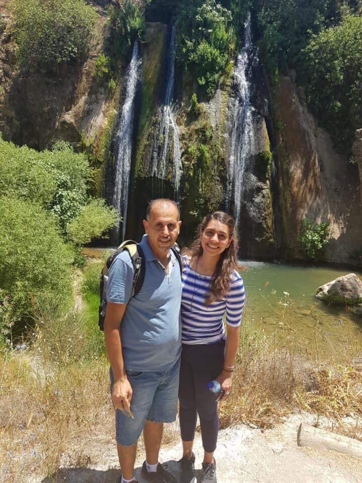 Walid Hanatsheh med datteren Mays.