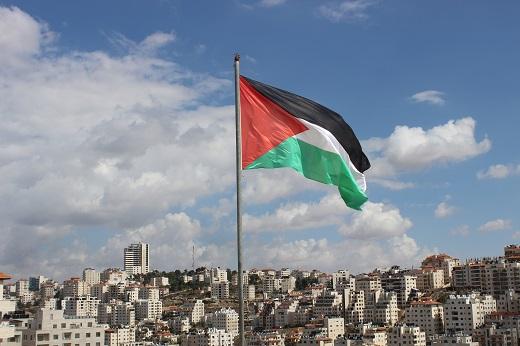 Det palæstinensiske flag. Israel-Info