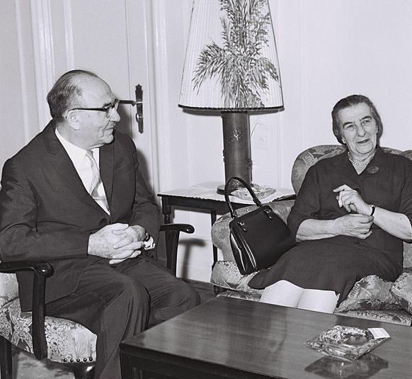 Levi Eshkol og Golda Meir