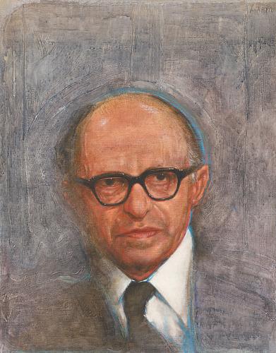 Portræt af Menachem Begin