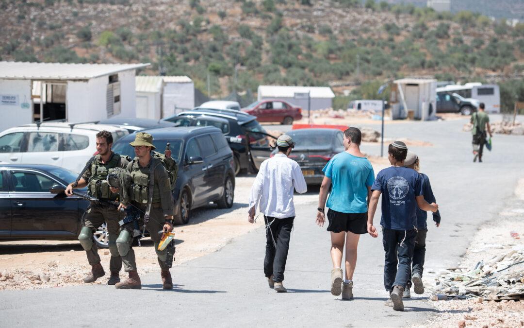 IllegaI bosættelse Evyatar på Vestbredden